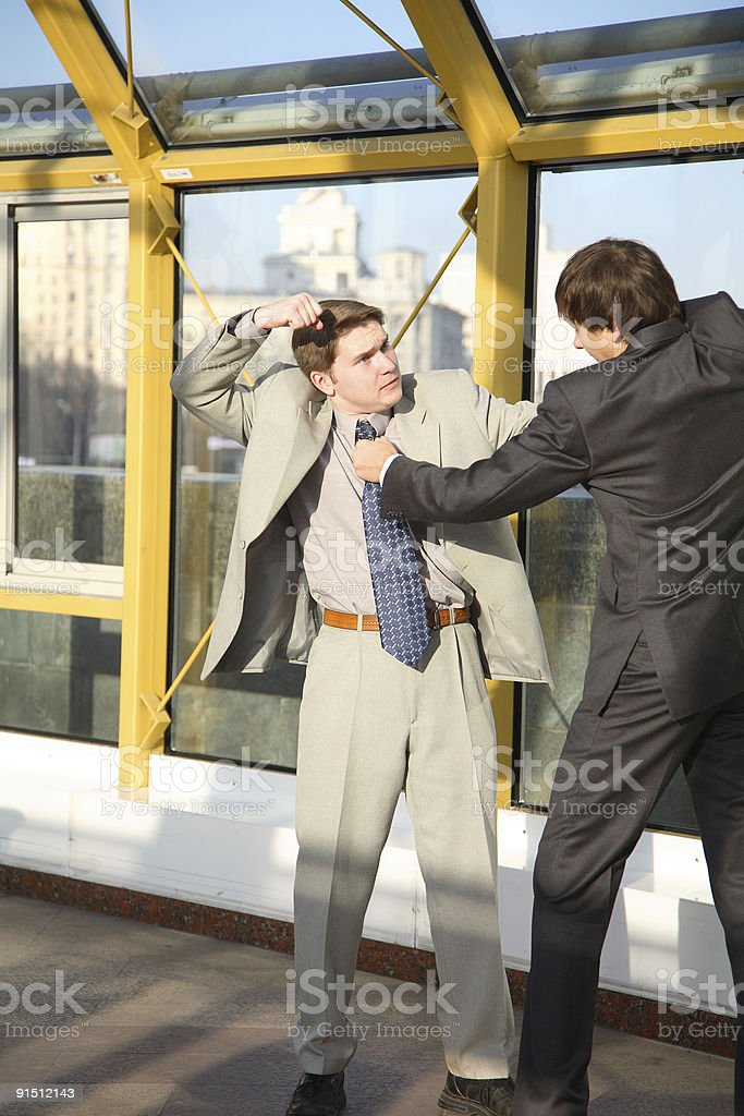 Fight between business partners royalty-free stock photo