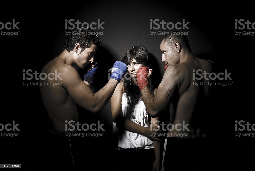 Fight For Love royalty-free stock photo