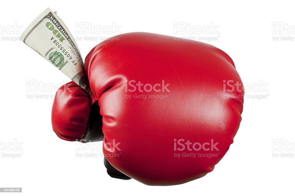 Fight for money royalty-free stock photo