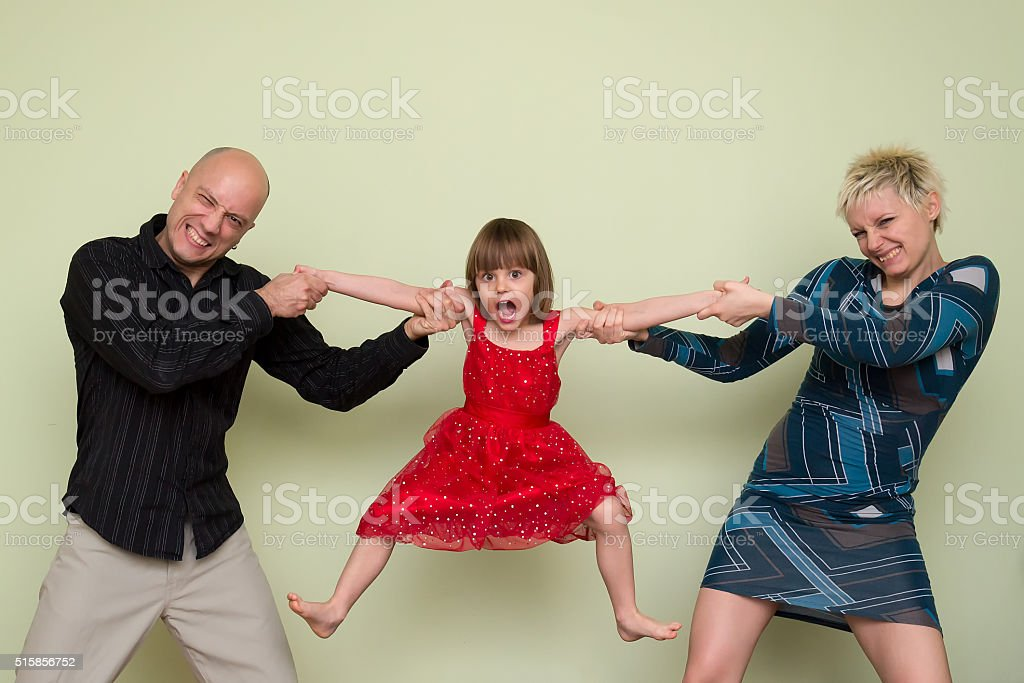 fight over child stock photo