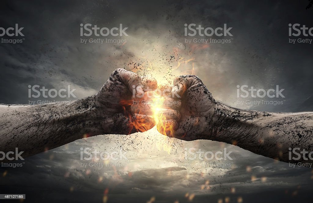 Fight stock photo