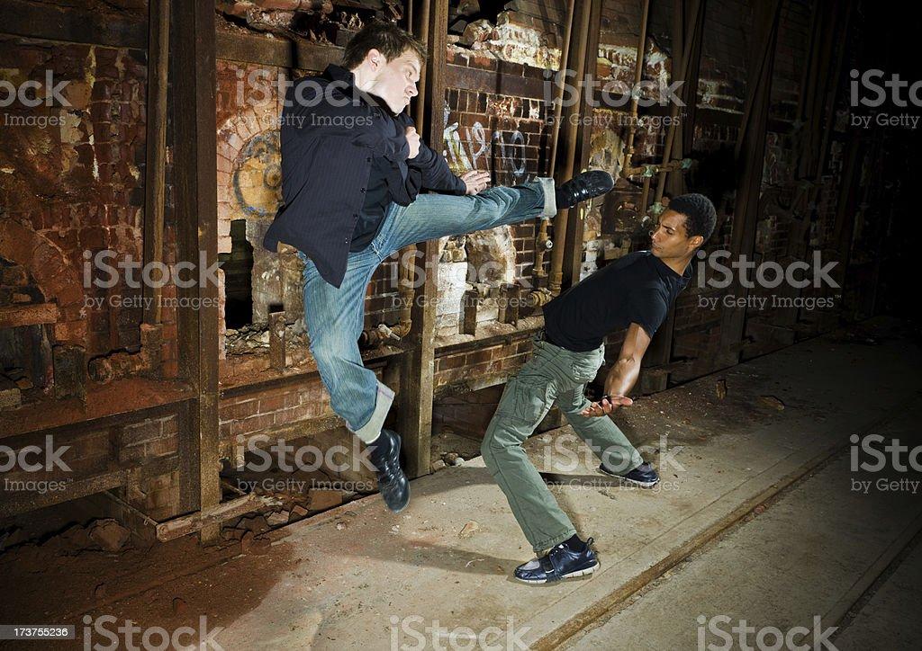 Fight scene royalty-free stock photo