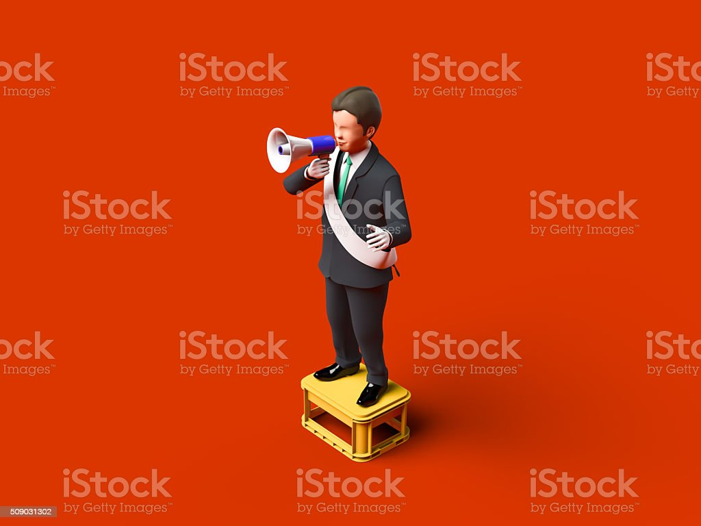 Fight the election politician stock photo