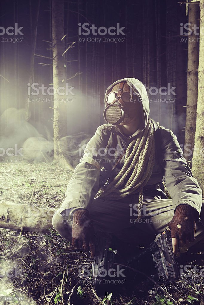 Fight to survive stock photo