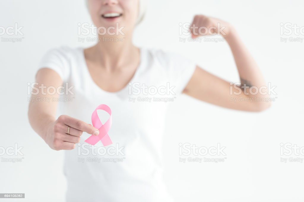 Fight with breast cancer stock photo
