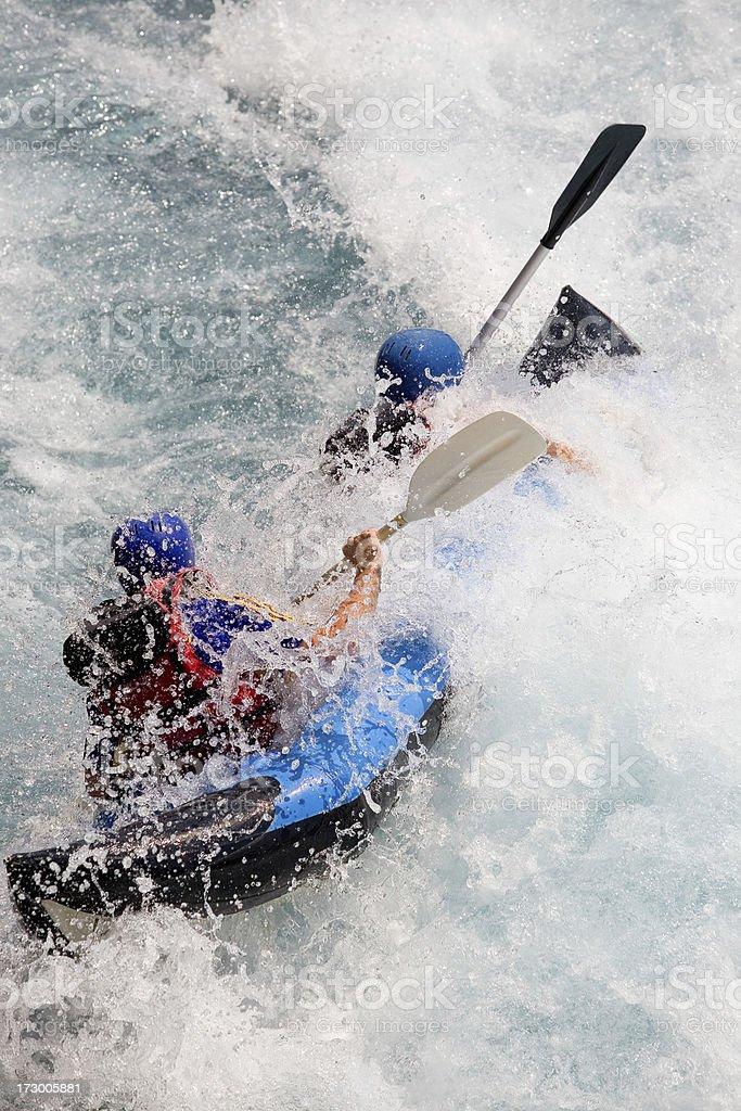 Fight with waves royalty-free stock photo