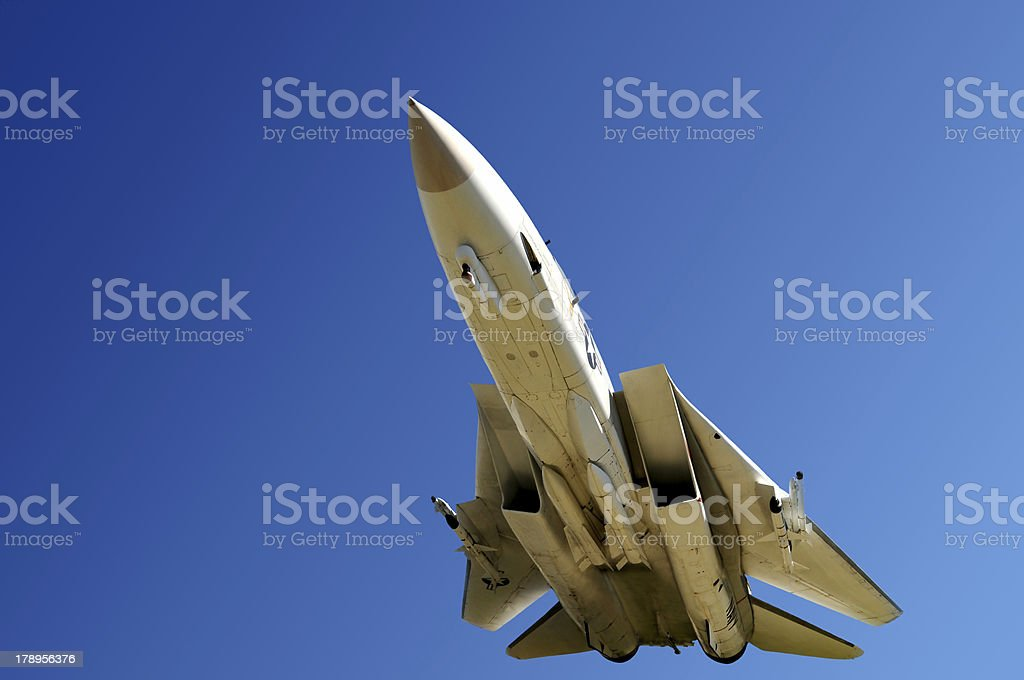Fighter aircraft closeup stock photo