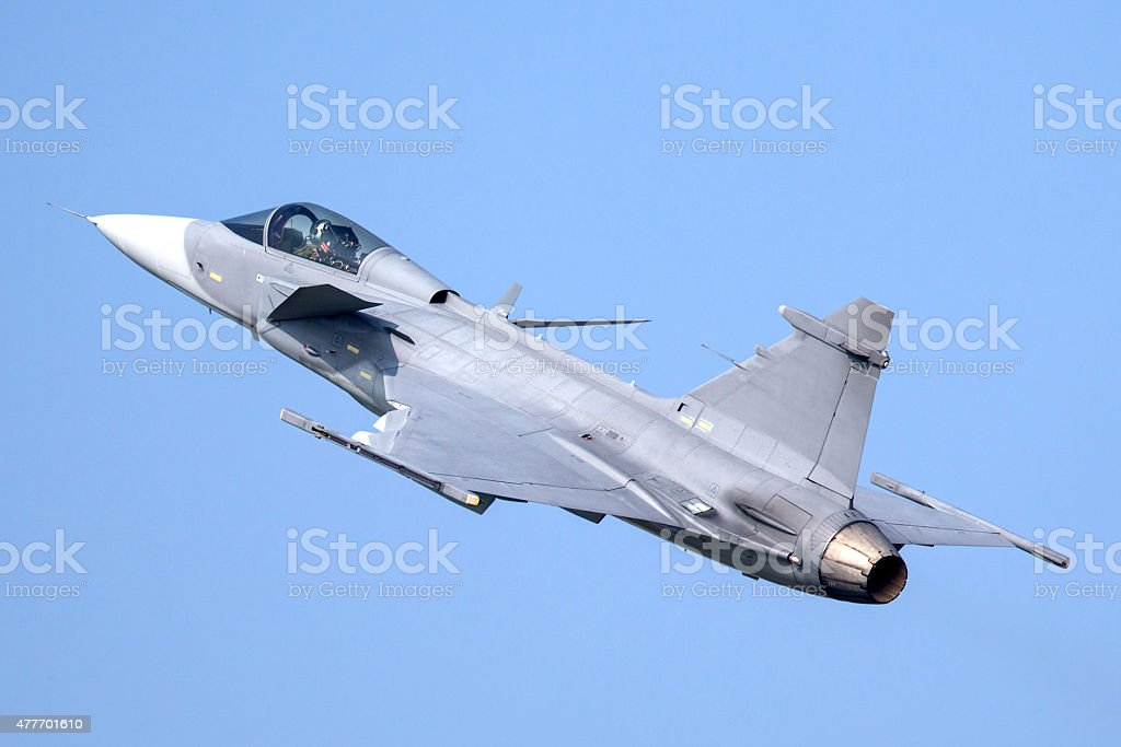Fighter Aircraft Flying stock photo