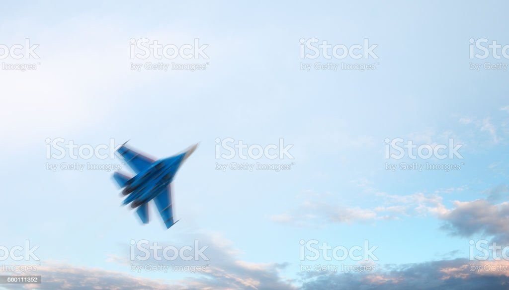 Fighter aircraft stock photo