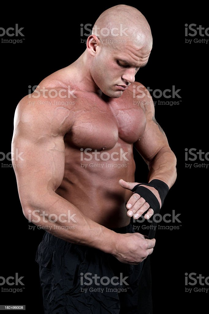 MMA fighter before the fight royalty-free stock photo