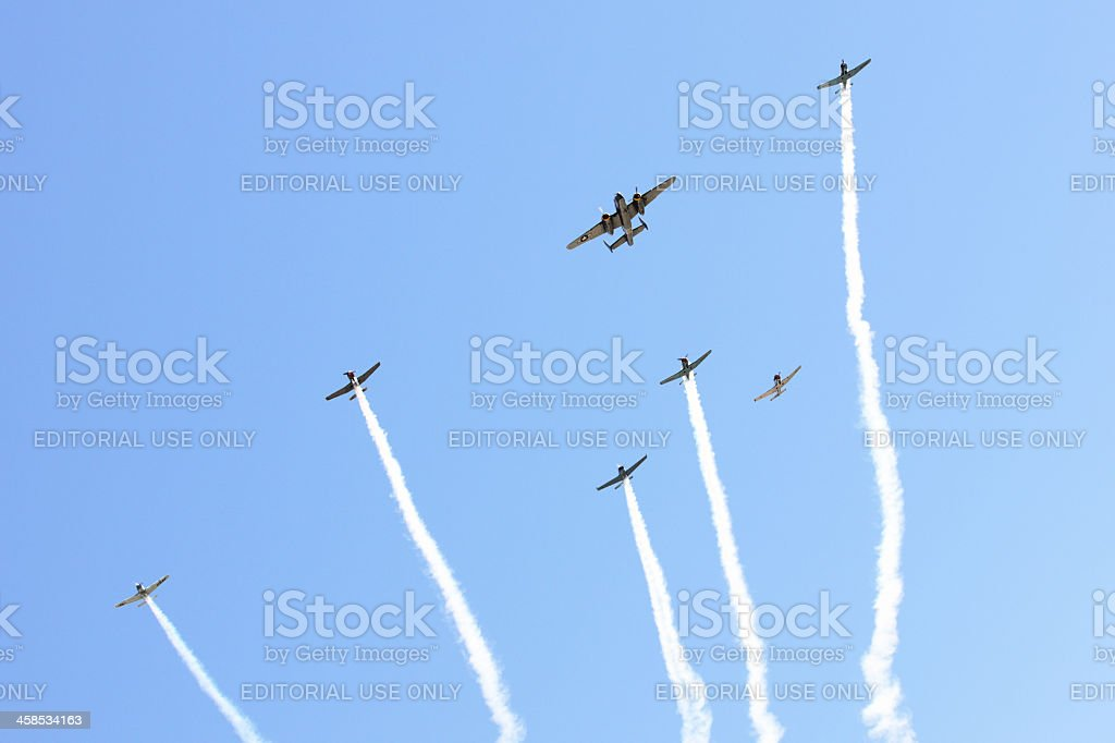 Fighter Bomber Airplanes World War II royalty-free stock photo