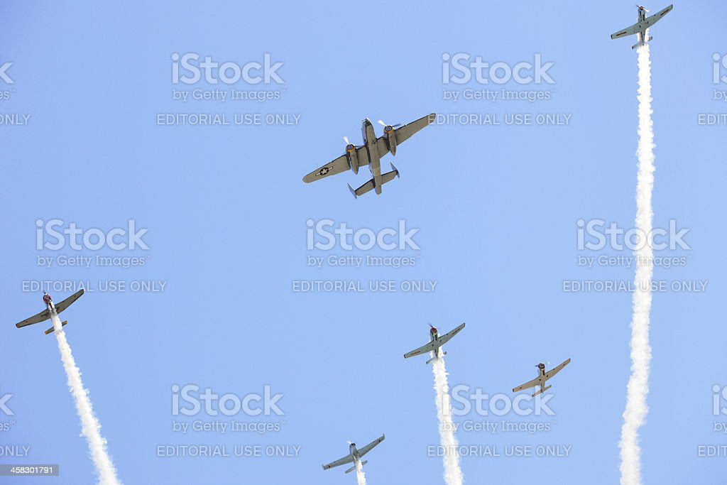 Fighter Bomber Military Airplane Airshow royalty-free stock photo