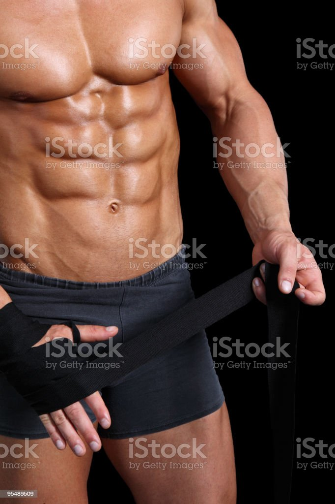 MMA fighter detail royalty-free stock photo
