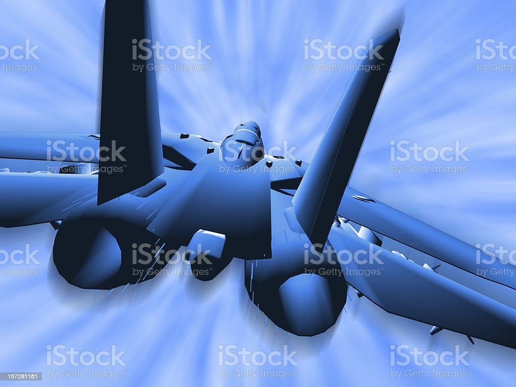 Fighter F16 Airplane Jet royalty-free stock photo
