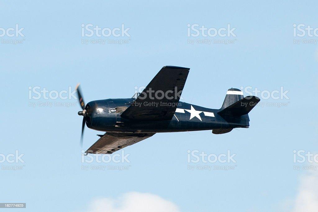 WWII fighter Grumman F6F Hellcat stock photo