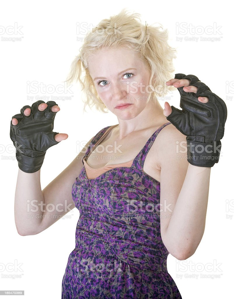 MMA Fighter in Dress royalty-free stock photo