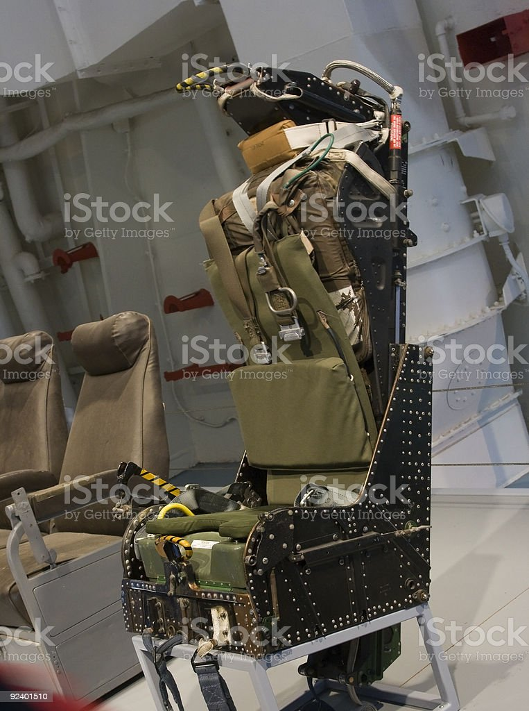 Fighter Jet Ejection Seat stock photo