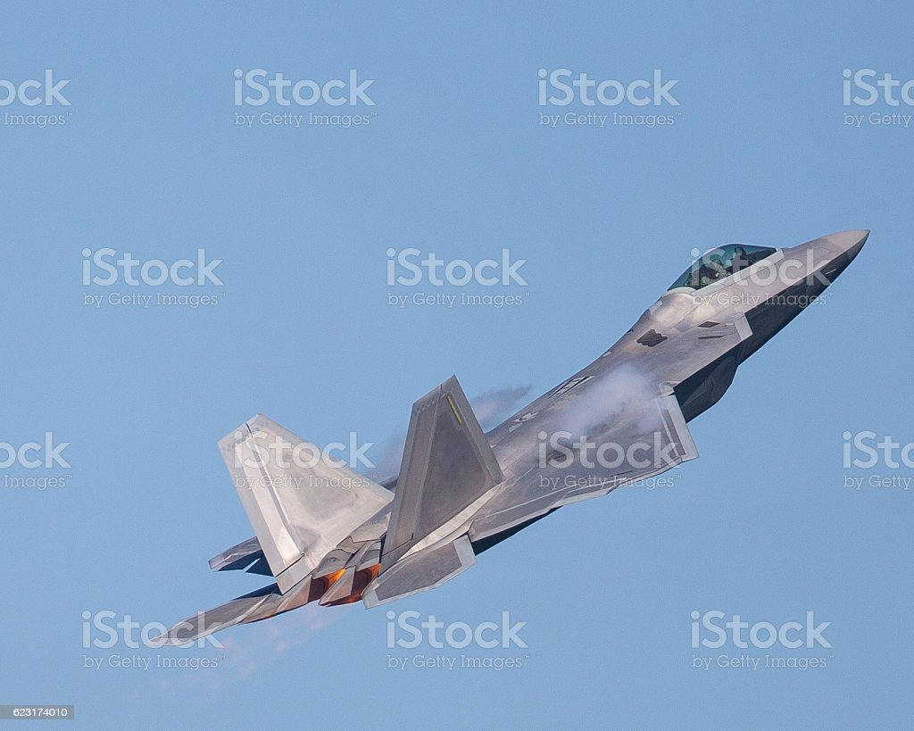 Fighter jet In high g maneuver stock photo