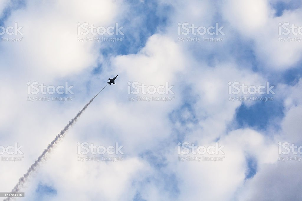 Fighter Jet in the Sky royalty-free stock photo