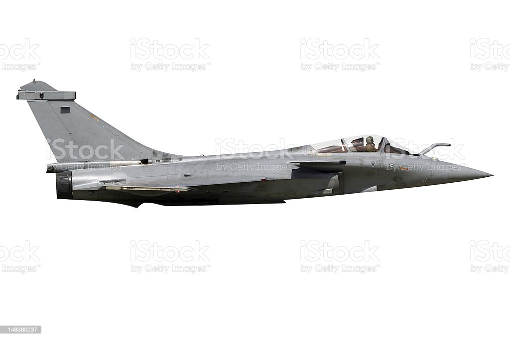 fighter jet isolated royalty-free stock photo