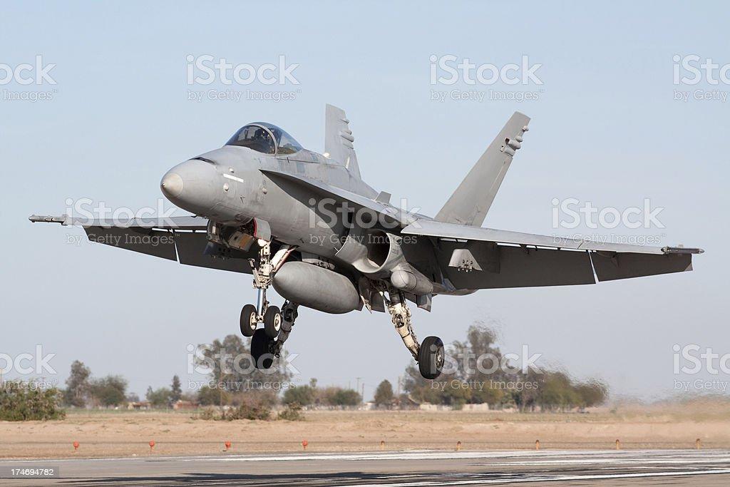 Fighter Jet Landing stock photo