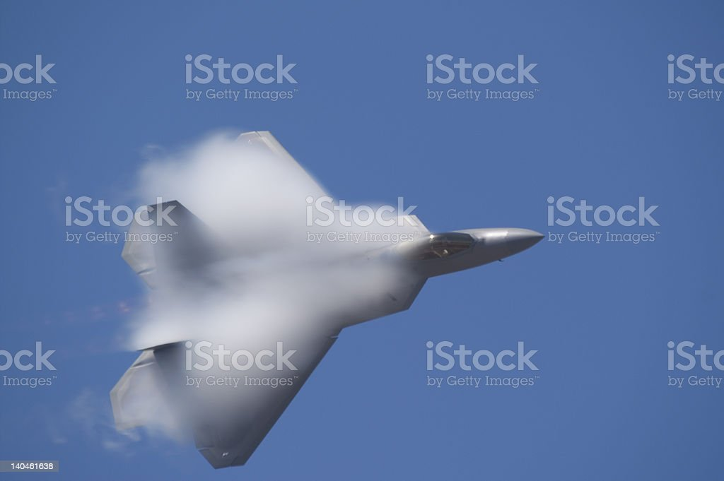 F-22 Fighter Jet royalty-free stock photo