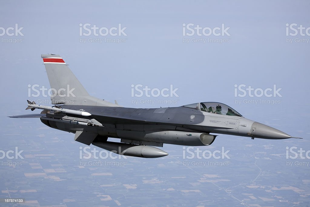 F-16 Fighter Jet (XL) stock photo