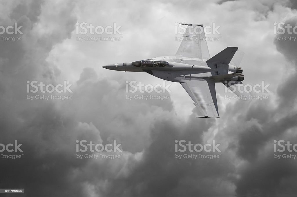 F-18 Fighter Jet royalty-free stock photo
