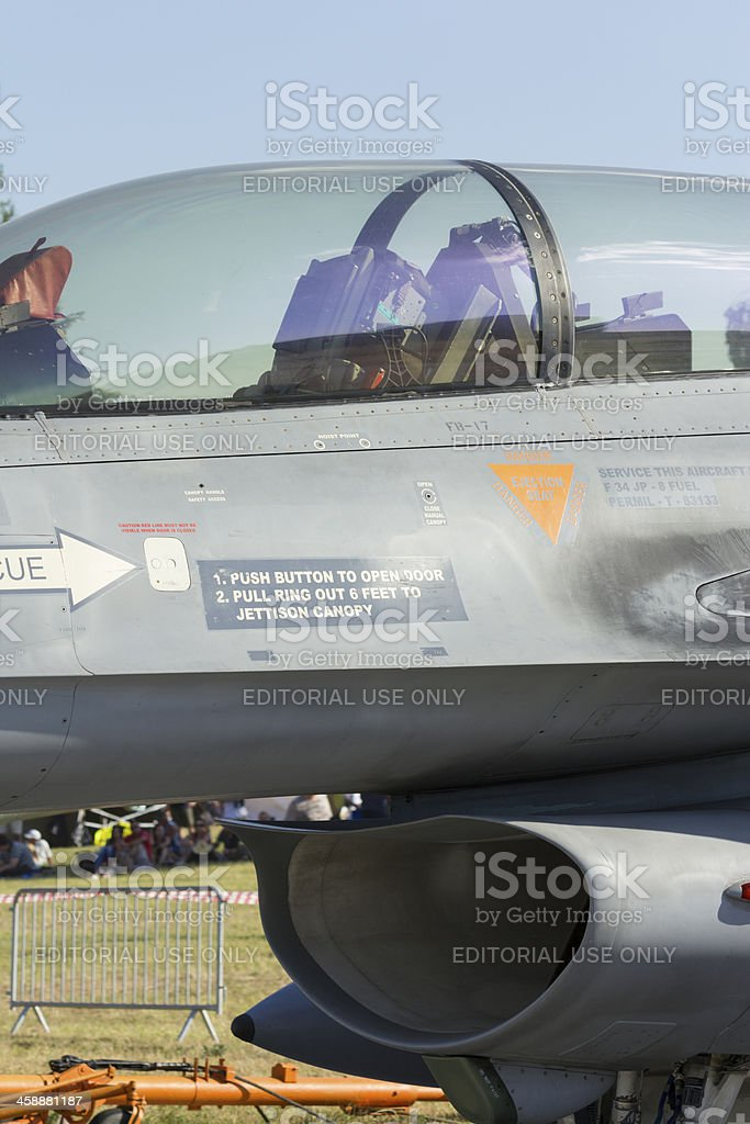 F-16 fighter jet royalty-free stock photo