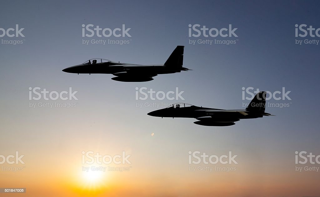 Fighter jet stock photo