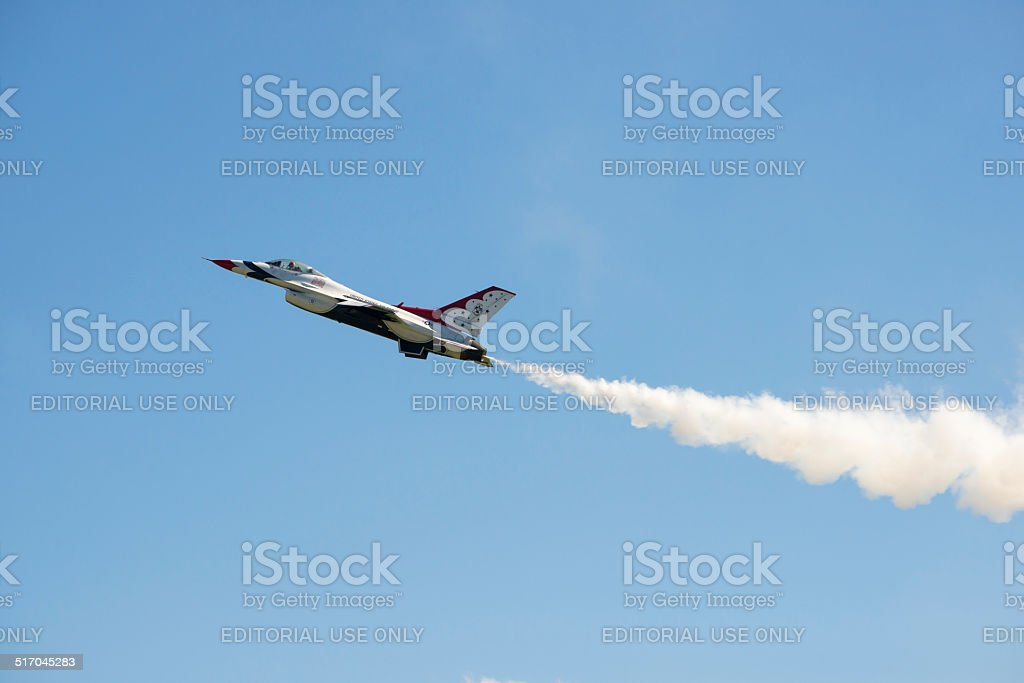F-16 fighter jet stock photo