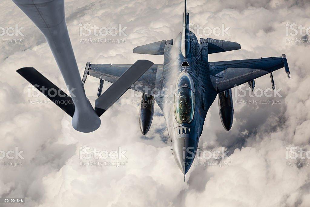 Fighter Jet Refueling stock photo