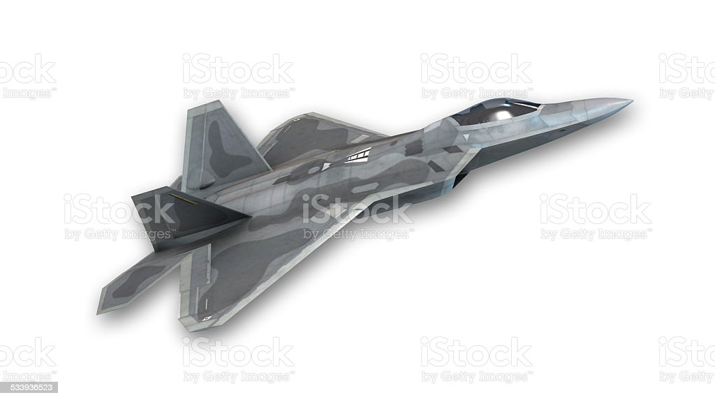 Fighter jet taking off stock photo