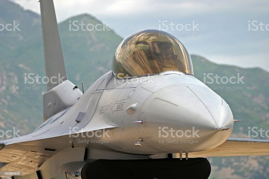 Fighter Jet-closeup royalty-free stock photo