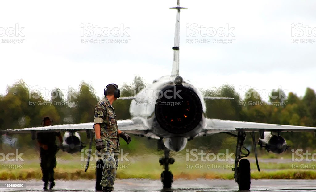 Fighter on Alert stock photo