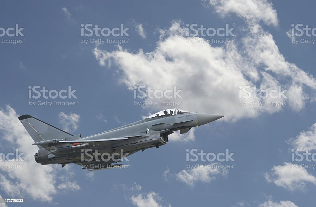 Fighter on the sky stock photo