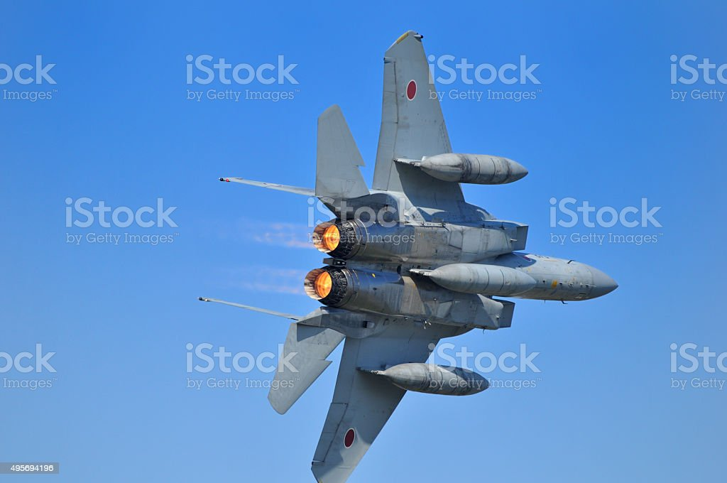F-15 fighter stock photo