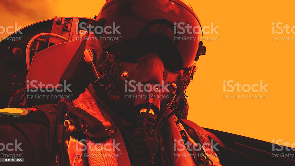 Fighter Pilot at War royalty-free stock photo
