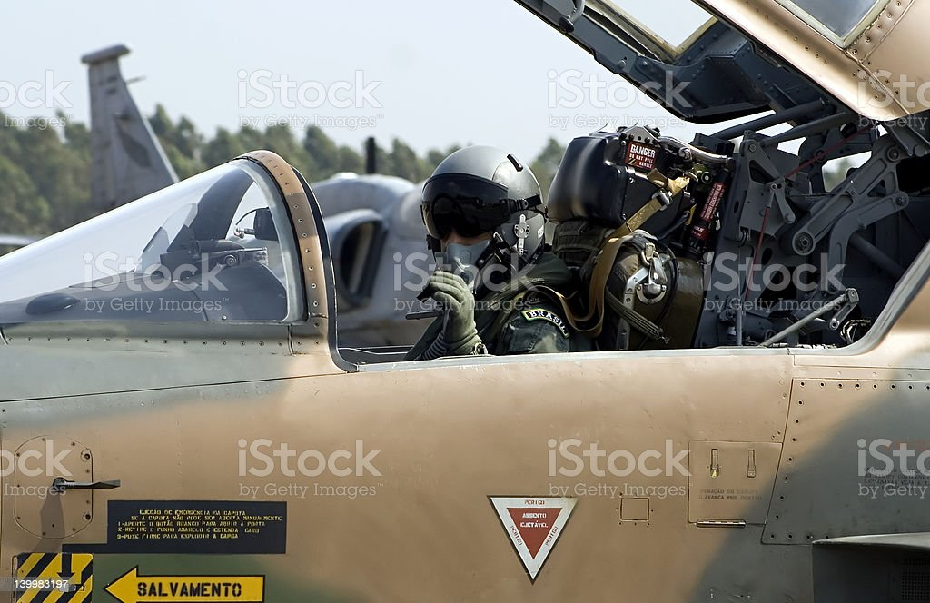 F-5E Fighter Pilot stock photo
