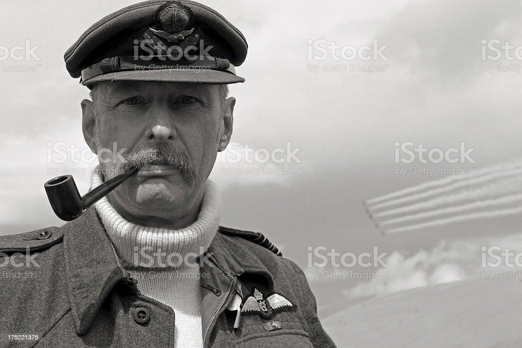 WW2 Fighter Pilot. stock photo