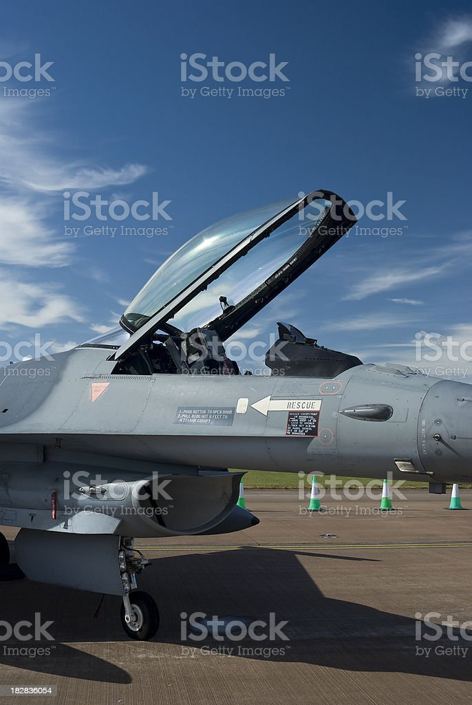 F-16 Fighter plane cockpit royalty-free stock photo
