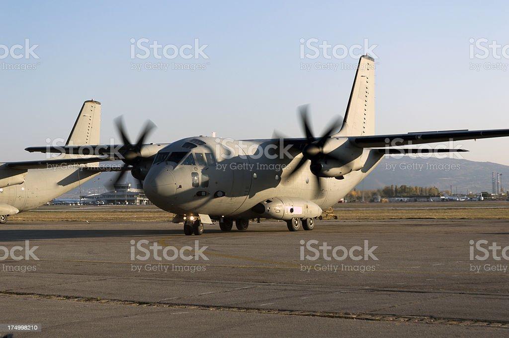 fighter plane landing royalty-free stock photo