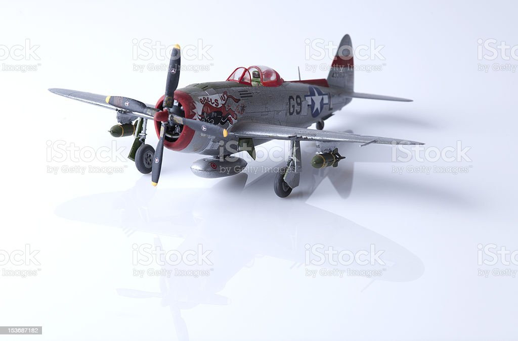 WW II fighter plane stock photo