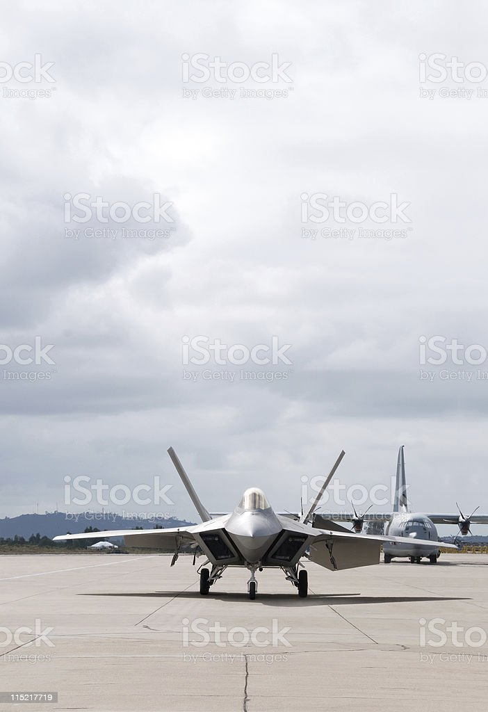 Fighter Plane Ready to Take Off stock photo