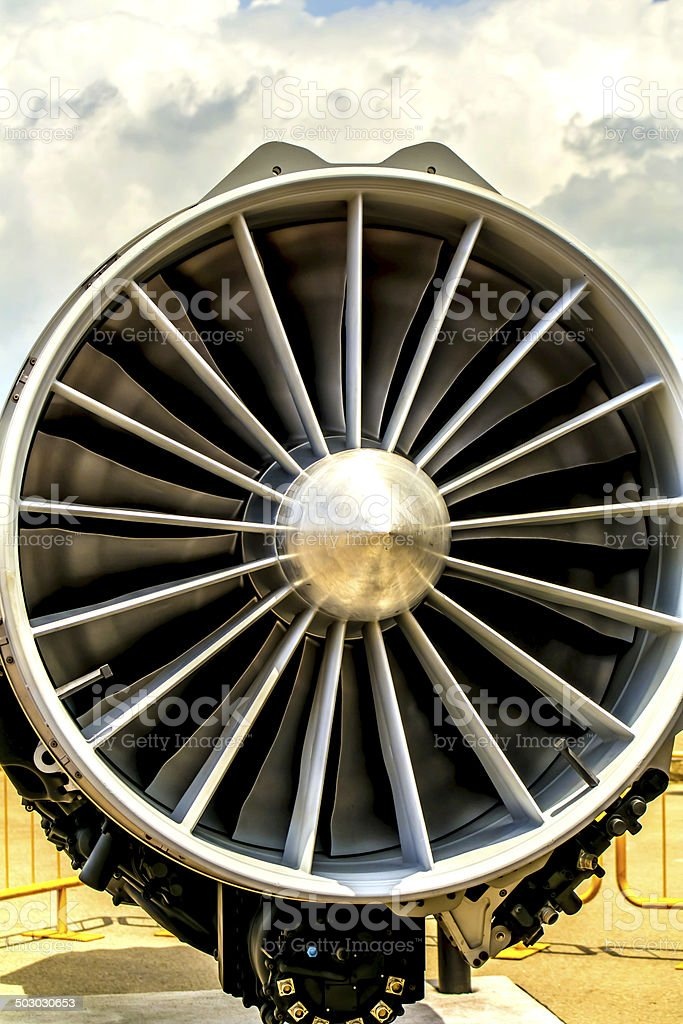 Fighter Plane Turbine royalty-free stock photo