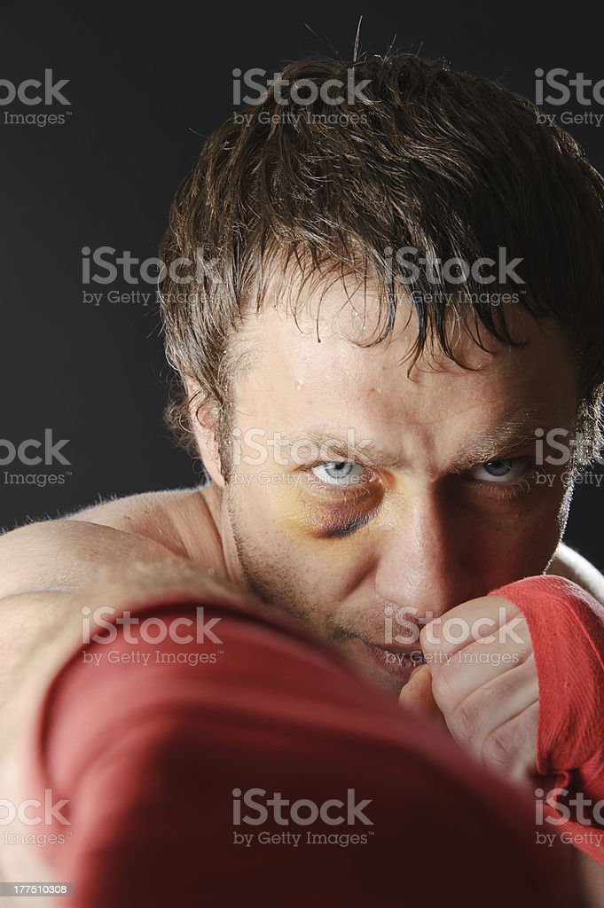 Fighter portrait. royalty-free stock photo