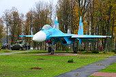 Fighter Su-27 in Park of Three Heroes, Senno, Belarus
