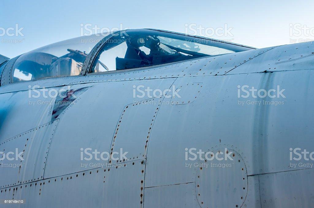 Fighterjet cockpit. stock photo