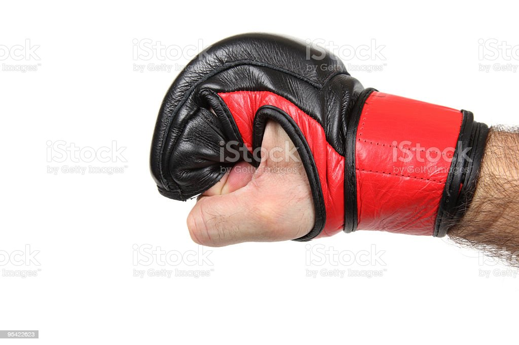 MMA fighter's fist stock photo