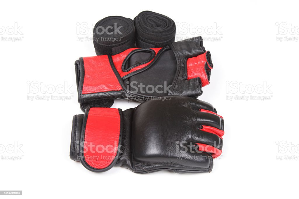 Fighter's gear stock photo